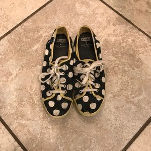 Kate Spade Blue and Yellow Apple size 9.5 Keds